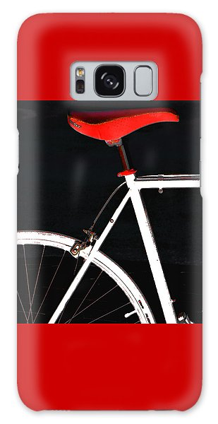 Bike In Black White And Red No 1 Galaxy Case