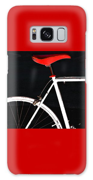 Bike In Black White And Red No 1 Galaxy Case by Ben and Raisa Gertsberg