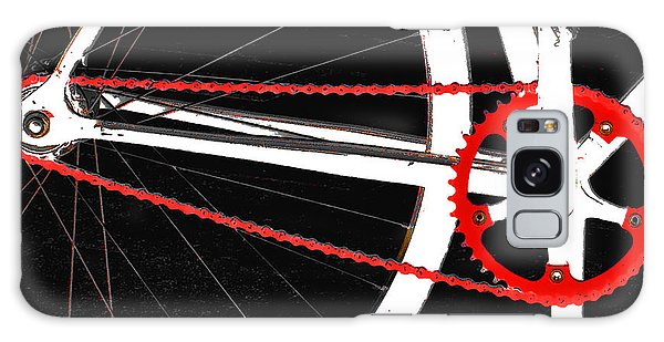 Bike In Black White And Red No 2 Galaxy Case