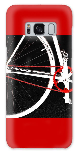 Bicycle Galaxy Case - Bike In Black White And Red No 2 by Ben and Raisa Gertsberg