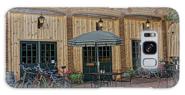 Bike Shop Cafe Katty Trail St Charles Mo Dsc00860 Galaxy Case by Greg Kluempers