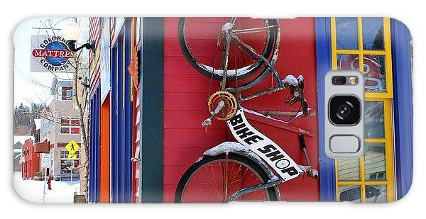 Bike Shop Galaxy Case by Fiona Kennard