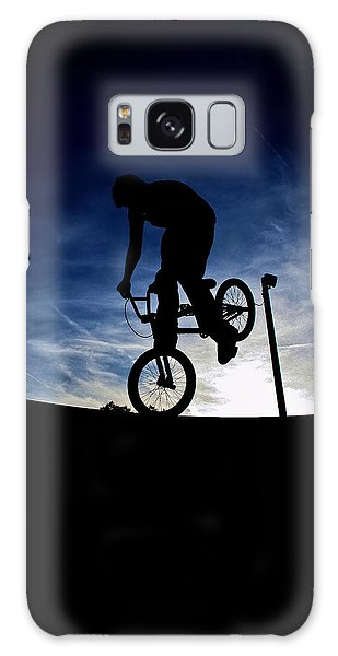Bike Silhouette Galaxy Case