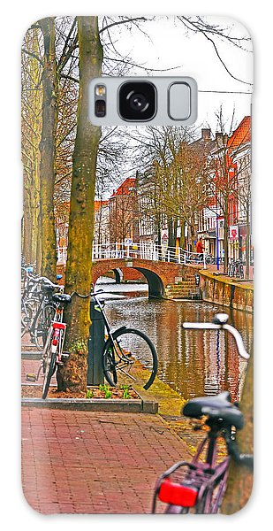 Bikes And Canals Galaxy Case