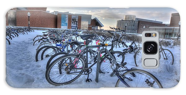 Bikes At University Of Minnesota  Galaxy Case by Amanda Stadther