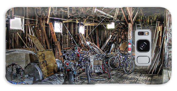 Bikes In The Fish House Galaxy Case