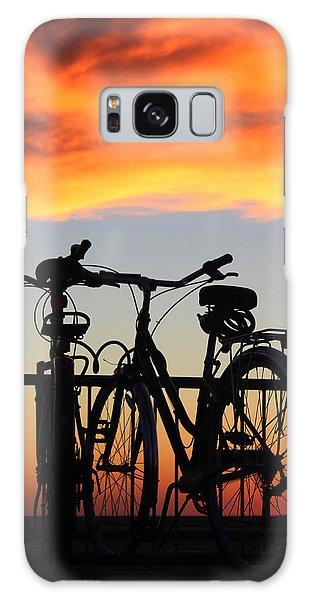 Bikes West Meadow Beach New York Galaxy Case