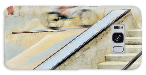 Biking The Skateboard Park Galaxy Case