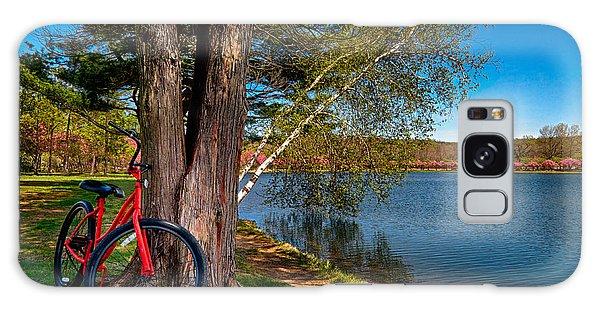 Biking To Horseshoe Lake Galaxy Case