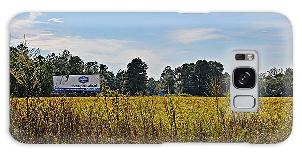 Billboards Over A Bean Field Galaxy Case by Linda Brown