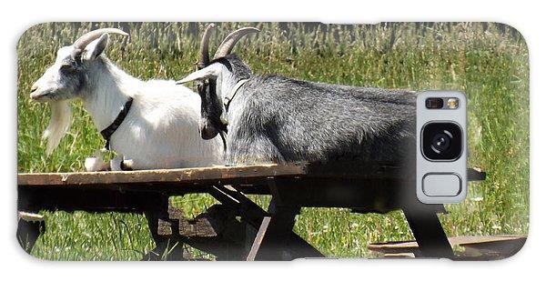 Billy Goats Picnic Galaxy Case by Brenda Brown