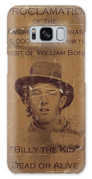 Billy The Kid Wanted Poster Galaxy Case
