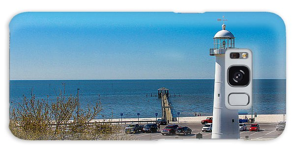 Biloxi Lighthouse And The Gulf Of Mexico Galaxy Case by Brian Wright