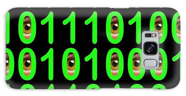 Scientific Illustration Galaxy Case - Binary Code With Eyes by Victor De Schwanberg