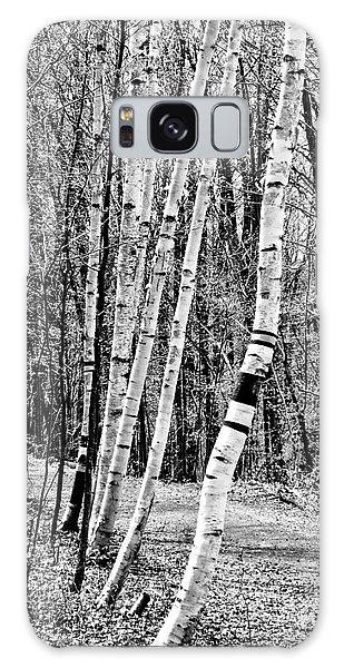 Galaxy Case featuring the photograph Birch Sentinels by Kristen Fox