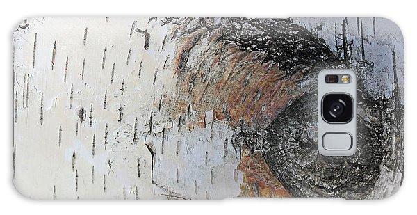 Birch Textures 33 Galaxy Case