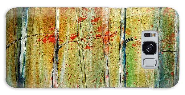 Birch Tree Forest I Galaxy Case