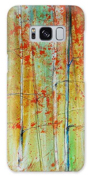 Birch Tree Forest Galaxy Case