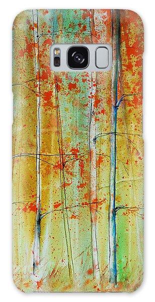 Birch Tree Forest Galaxy Case by Jani Freimann