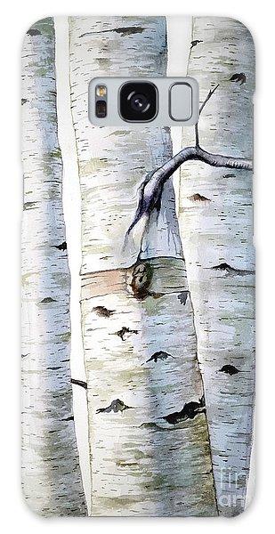 Birch Trees Galaxy Case