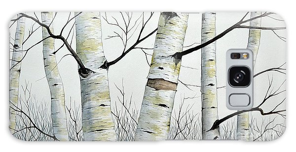 Birch Trees In The Forest In Watercolor Galaxy Case