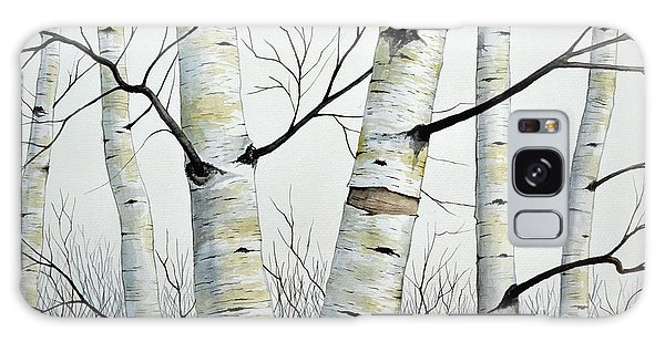 Birch Trees In The Forest By Christopher Shellhammer Galaxy Case