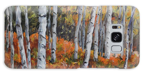 Birch Trees Galaxy Case