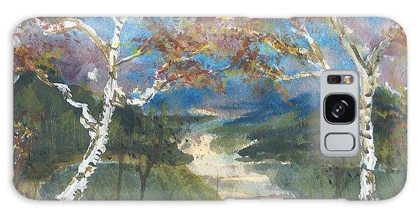 Birch Trees On The Ridge  Galaxy Case