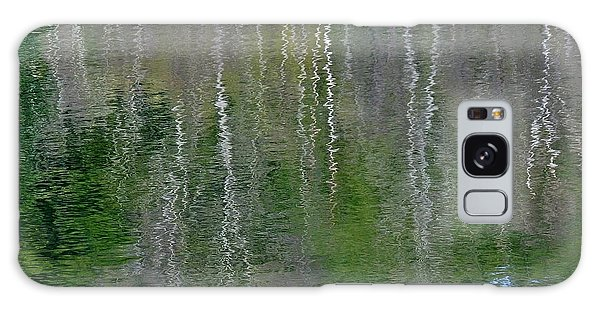 Birch Trees Reflected In Pond Galaxy Case