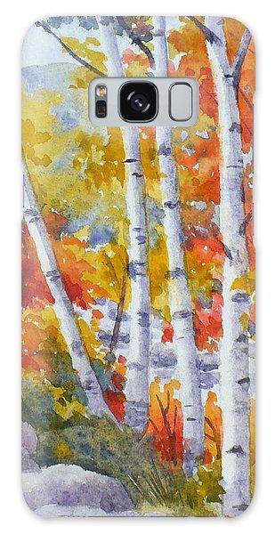 Birches Along The River Galaxy Case