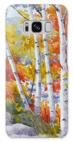 Birches Along The River Galaxy Case