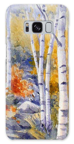 Birches Along The Trail Galaxy Case
