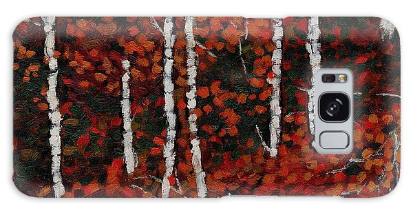 Birches Galaxy Case by David Dossett