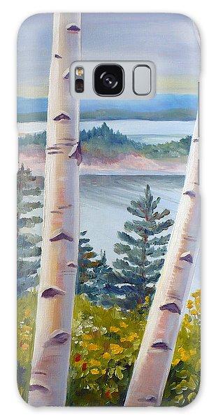 Birches In Nova Scotia Galaxy Case