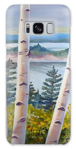 Birches In Nova Scotia Galaxy Case