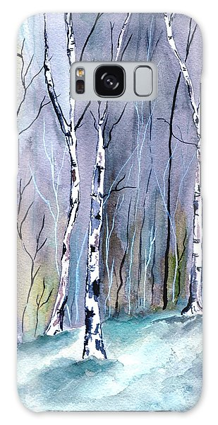 Birches In The Forest Galaxy Case