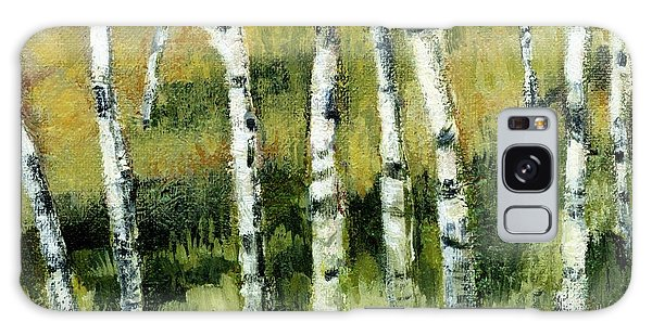 Birches On A Hill Galaxy Case