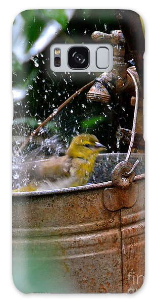 Bird Bath Galaxy Case by Carol  Bradley
