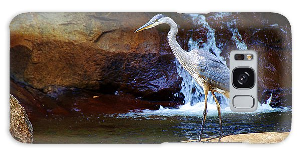 Bird By A Waterfall  Galaxy Case by Sarah Mullin