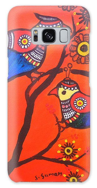 Madhubani Galaxy Case - Bird Couple-children Room Decoration by Shishu Suman