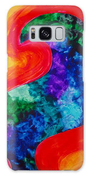 Bird Form I Galaxy Case by Michele Myers