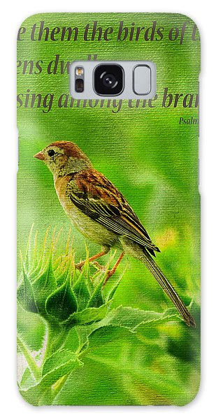 Bird In A Sunflower Field Scripture Galaxy Case