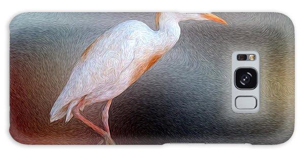 Bird In Faux Oil Galaxy Case