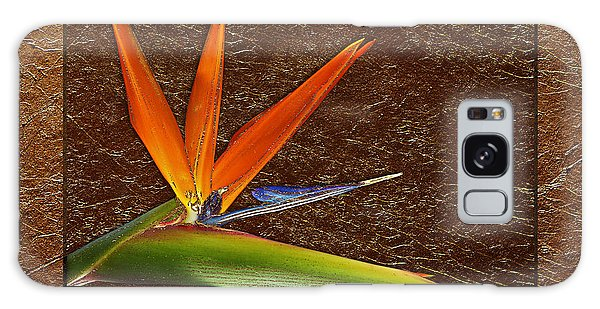 Bird Of Paradise Gold Leaf Galaxy Case by Phyllis Denton
