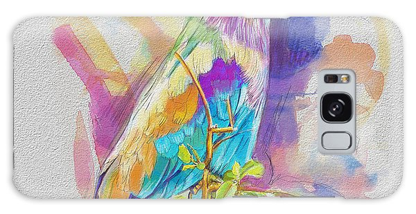 Parakeet Galaxy Case - Bird On A Twig by Catf