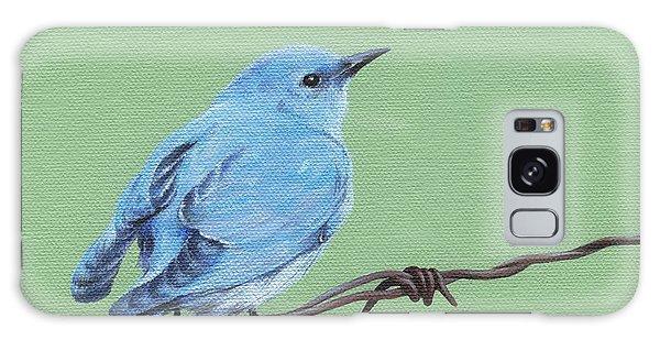 Bird On A Wire Galaxy Case by Natasha Denger