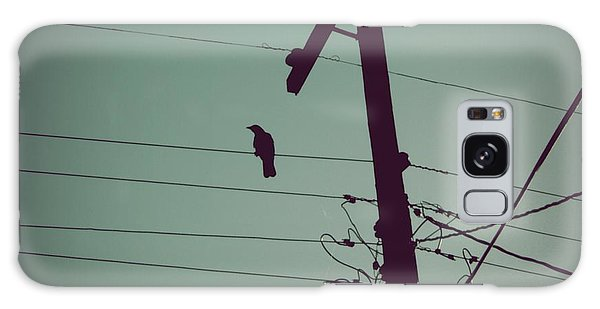 Bird On A Wire Galaxy Case by Patricia Strand