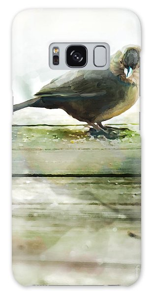 Bird On The Deck Galaxy Case by Artist and Photographer Laura Wrede