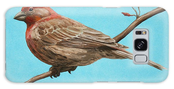 Song Bird Galaxy Case - Bird Painting - House Finch by Crista Forest