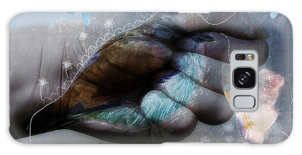 Birdie Paintress Galaxy Case by Barbara Orenya